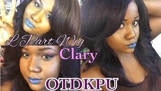 getlinkyoutube.com-Freetress Equal Invisible L Part Wig  Clary