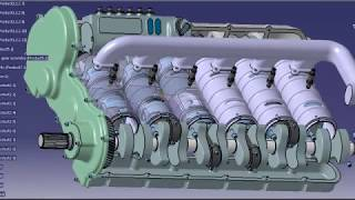 getlinkyoutube.com-Opposed piston 2 stroke diesel engine animation (Junkers Jumo 205 concept)