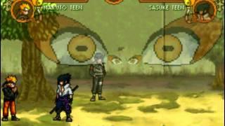 getlinkyoutube.com-Mugen:Naruto VS Sasuke Clash in M.U.G.E.N