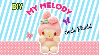 getlinkyoutube.com-DIY My Melody Sock Plush | A Collaboration with Minty Mina D