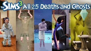 The Sims 3: All 25 Deaths and Ghosts (HD) (World Adventure-Into the Future)