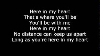 Scorpions-Here in my heart  Lyrics