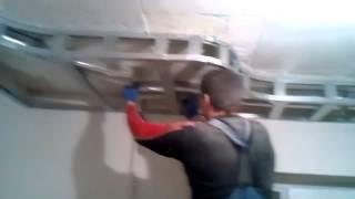 getlinkyoutube.com-Потолок из гипсокартона своими руками.  Видео инструкция