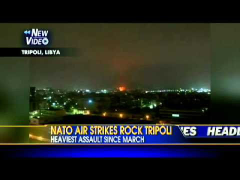 VIDEO: NATO Air Strikes Rock Tripoli