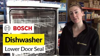 getlinkyoutube.com-How to replace the lower dishwasher door seal on a Bosch dishwasher