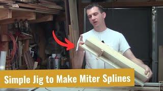 Build a Miter Spline Jig