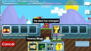 getlinkyoutube.com-Growtopia:Selling my Phoenix Wings to @STYX!