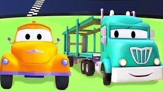getlinkyoutube.com-Tom o Caminhão de Reboque e o Caminhão Cegonha na Cidade do Carro | Desenhos animados crianças