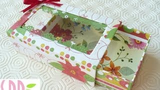 getlinkyoutube.com-Scrapbooking tutorial: Scatolina Natalizia Porta Tag - Christmas Tags box holder