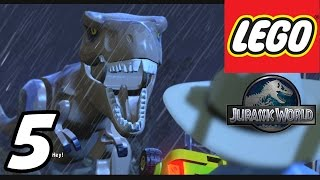 "getlinkyoutube.com-LEGO Jurassic World - Part 5 ""T-REX Paddock!"" (Gameplay Walkthrough 1080p)"