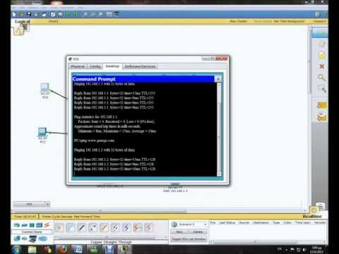 DNS and DHCP Server Configuration in Packet Tracer