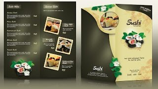 getlinkyoutube.com-Create a Half Fold Menu Brochure Mockup Photoshop Tutorial