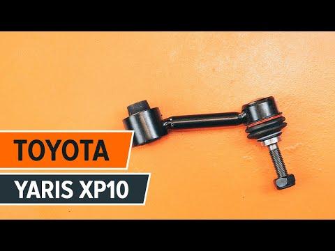 Как да сменим предна стойка на стабилизатор на TOYOTA YARIS XP10 ИНСТРУКЦИЯ | AUTODOC