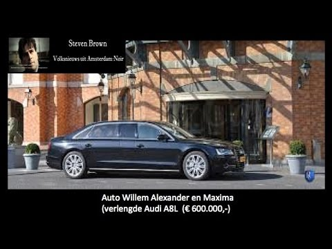 Hidden camera: Dutch King Willem and Queen Maxima in special armed car.