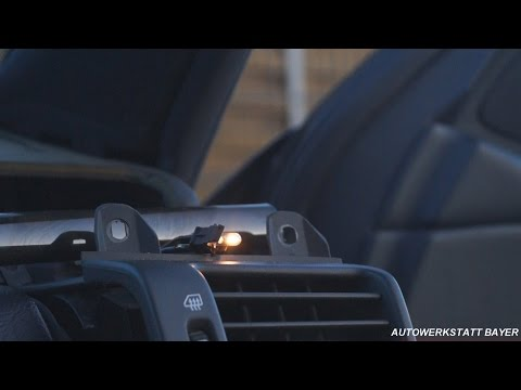 Mercedes W210 замена ламп в колёсиках воздуховодов
