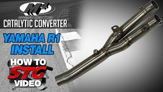 getlinkyoutube.com-M4 Titanium Cat Eliminator Install on a 2015 Yamaha YZF-R1 from Sportbiketrackgear.com