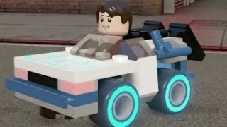 getlinkyoutube.com-LEGO Dimensions - DeLorean Fully Upgraded - All 3 Versions (Vehicle Showcase)