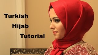 getlinkyoutube.com-Turkish HijabTutorial in less than a minute طريقة لف الحجاب التركي