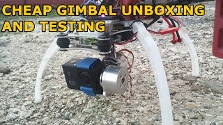 Cheap ebay gimbal unboxing and testing on DJI F450