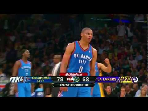 Russell Westbrook BUZZER-BEATER against Kobe &amp; the Lakers