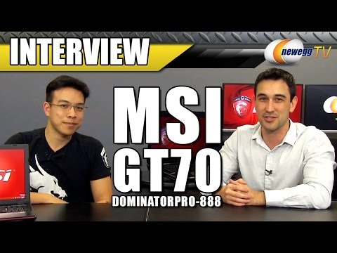 MSI's New Dominator & Apache Series Gaming Laptops Interview - Newegg TV