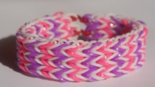 getlinkyoutube.com-【レインボールーム】トリプルフィッシュテイルブレスレットの編み方・作り方