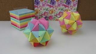 getlinkyoutube.com-Origami Stern / modulares Origami Anleitung / 3D Stern aus Papier basteln