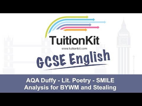 AQA Duffy - Lit. Poetry - SMILE Analysis for BYWM and Stealing