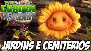 getlinkyoutube.com-Plantas vs Zumbis Garden Warfare - Jardins e Cemitérios MODO IRADO