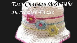 getlinkyoutube.com-TUTO CHAPEAU BOB BEBE AU CROCHET PATTERN BABY HAT SUN CROCHET