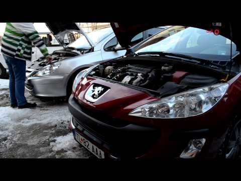 Jump Strarting a car using a booster battery from another car Peugeot 307, 308 Citroen C4