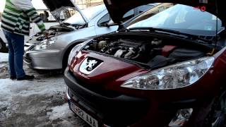 getlinkyoutube.com-Jump Strarting a car using a booster battery from another car Peugeot 307, 308 Citroen C4