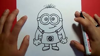 getlinkyoutube.com-Como dibujar un minion paso a paso - gru mi villano favorito | How to draw a minion