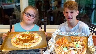 getlinkyoutube.com-Pizza Challenge REMATCH! (MattyBRaps vs Sarah Grace)