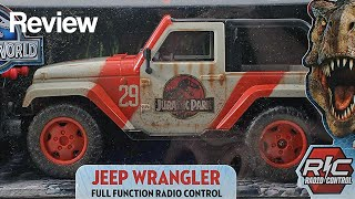 getlinkyoutube.com-Jada Jurassic World 1:16 Jeep Wrangler R/C Vehicle Review