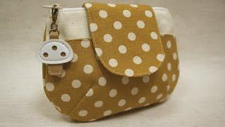 清秀佳人布坊 - 手作教學 - 有袋蓋的圓弧立體拉鍊袋