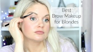 getlinkyoutube.com-The Best Eye Brow Products For Blondes | Brow Gels, Pomades, & Pencils Review
