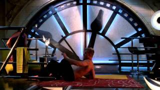 getlinkyoutube.com-Erica Durance Doing Yoga On Smallville
