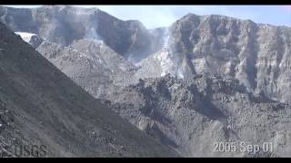 getlinkyoutube.com-Time-lapse images of Mount St. Helens dome growth 2004-2008