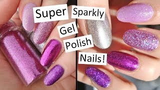 getlinkyoutube.com-How To Press Glitter Into Gel Polish | Super Sparkly Nails!