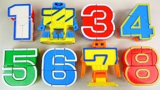 getlinkyoutube.com-123 Number robot transformers toy 숫자 변신로봇 장난감