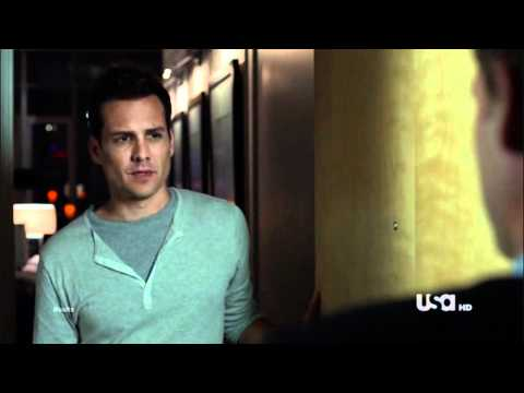 "Suits - Mike and Harvey Scene 1.06 ""Don't ever call me dude"""