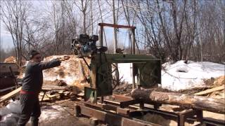 Off Grid Homemade Bandsaw Mill, Explained And Demonstrated