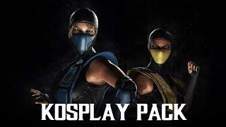 getlinkyoutube.com-Mortal Kombat XL - Sub-Zero / Scorpion Kosplay Costume / Skin Pack (1080p 60FPS)