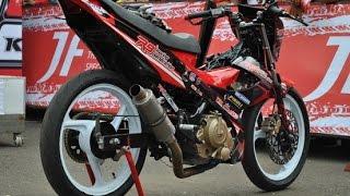 getlinkyoutube.com-Motor Trend Modifikasi | Video Modifikasi Motor Suzuki Satria FU Road Race Terbaru