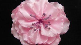 getlinkyoutube.com-tutorial flores grande s para el cabello en citas de raso No. 241 Manualiddades la hormiga