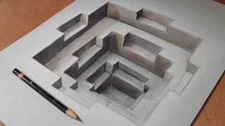 Drawing Awesome 3D Hole, Long Version