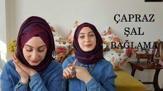 getlinkyoutube.com-ÇAPRAZ ŞAL BAĞLAMA │ Sohbet │ Hijab Tutorial