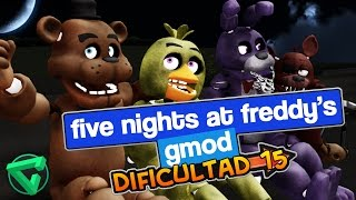 ¡DIFICULTAD 15!  - FIVE NIGHTS AT FREDDY'S GMOD | iTownGamePlay
