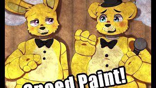 getlinkyoutube.com-Five Nights at Freddy's SpeedPaint/SpringTrap and Golden Freddy